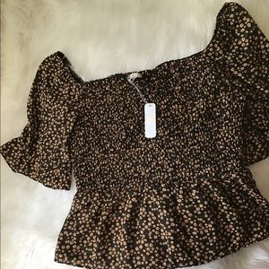 NWT Floral Blouse by Charming Charlie Size Large